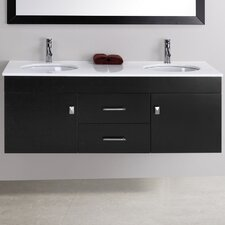 "Alyssa 56.3"" Wall Mounted Bathroom Vanity Set"