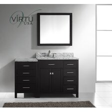 "<strong>Virtu</strong> Caroline Parkway 57"" Single Bathroom Vanity Set"