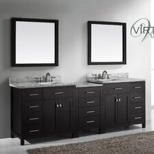 "Caroline Parkway 93"" Double Bathroom Vanity Set"
