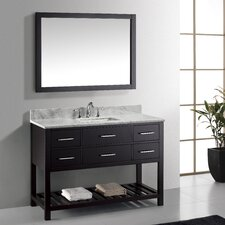 "jon1297Caroline Estate 48"" Single Bathroom Vanity Set with Square Sink"