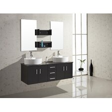 "<strong>Virtu</strong> Enya 59.1"" Double Bathroom Vanity Set"