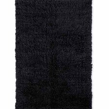 Flokati Black Area Rug