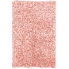 Flokati Pastel Pink Area Rug