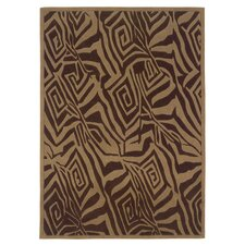 <strong>Linon Rugs</strong> Trio Chocolate/Beige Rug