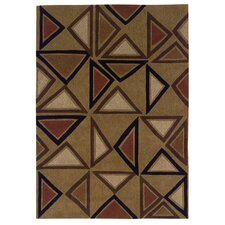 Trio Tufted Camel/Brick Rug