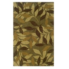 <strong>Linon Rugs</strong> Trio Green/Brown Rug