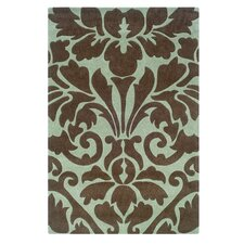 Trio Chocolate/Spa Blue Area Rug