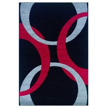 <strong>Linon Rugs</strong> Corfu Black/Red Kids Rug
