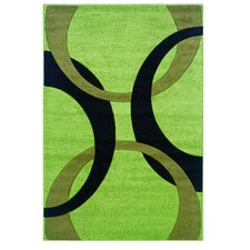 Corfu Lime/Black Kids Rug