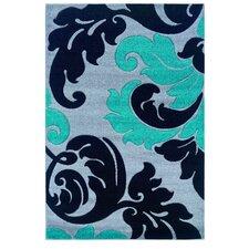 Corfu Floral Grey/Turquoise Kids Rug