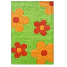 Corfu Floral Lime/Goldenrod Kids Rug