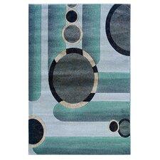 Milan Floral Grey/Seaglass Rug