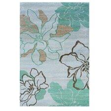 Milan Ivory & Turquoise Floral Rug