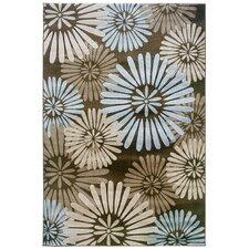 Milan Brown/Sand Floral Area Rug II