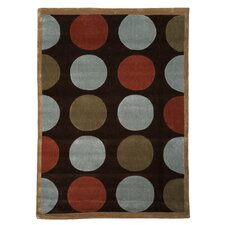 <strong>Linon Rugs</strong> Trio Brown/Pale Blue Rug