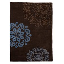 <strong>Linon Rugs</strong> Trio Chocolate/Blue Rug