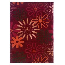 Trio Red Area Rug