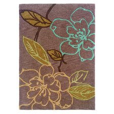 <strong>Linon Rugs</strong> Trio Space Dyed Thistle/Brown Rug