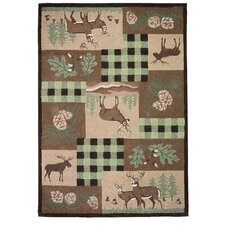 Wilderness Floral Novelty Rug