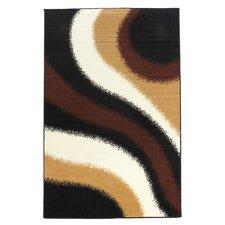 Capri Black/Brown Area Rug