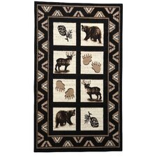 Lodge 02 Wildlife Novelty Rug