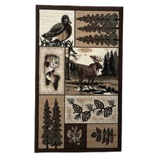 Lodge 03 Wildlife Novelty Rug