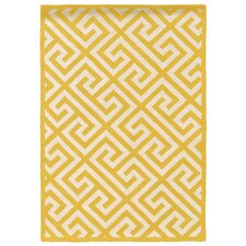 Silhouette Key Yelllow Area Rug