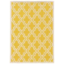 Silhouette Yellow Quatrefoil Rug