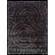 Links Charcoal Circles Rug