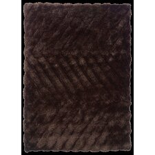 Links Chocolate Zigzag Rug