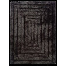 Links Charcoal Squared Rug