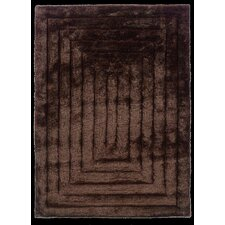 <strong>Linon Rugs</strong> Links Chocolate Squared Rug
