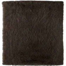 Faux Sheepskin Brown Area Rug