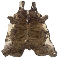 Natural Cowhide Full Skin Medium Brindle Rug