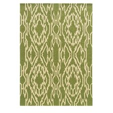 Le Soleil Green/Ivory Outdoor Rug