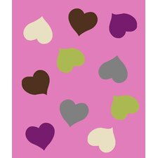 <strong>Linon Rugs</strong> Tween Hearts Rug