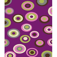 Tween Circles Purple Area Rug