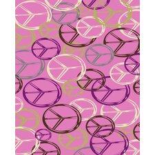 Tween Pink Peace Rug