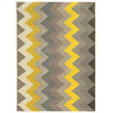 Trio Grey Chevron Rug