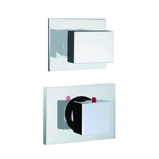 Brick Built-In Thermostatic Valve Trim with One Volume Control Handle