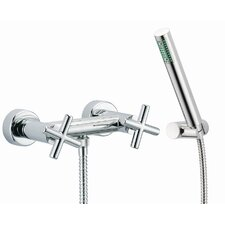 Maxima Wall Mount Thermostatic Shower Faucet with Hand Shower