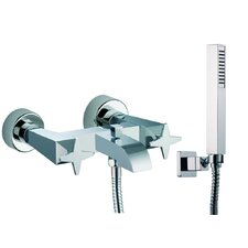 Mp1 Wall Mount Thermostatic/Diveter Bath Tub Faucet with Hand Shower