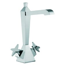 Mp1 Single Hole Bathroom Sink Faucet with Double Cross Handles