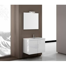 "Space 32"" Single Footed Bathroom Vanity Set with Mirror"