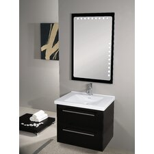 "Fly 29"" Single Wall Mounted Bathroom Vanity Set with Mirror"