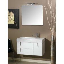 """Enjoy 35"""" Wall Mounted Bathroom Vanity Set with Single Sink"""