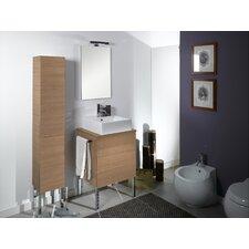 "Time 24"" Single Wall Mounted Bathroom Vanity Set with Mirror"