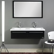 "Fly 49"" Double Bathroom Vanity Set with Mirror"