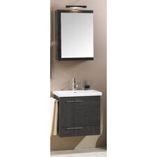 "Simple 23"" Single Wall Mounted Bathroom Vanity Set with Mirror"