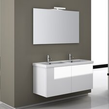 "Space 46.8"" Wall Mount Double Bathroom Vanity Set"